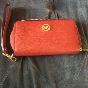 Red/Orange Michael Kors Clutch